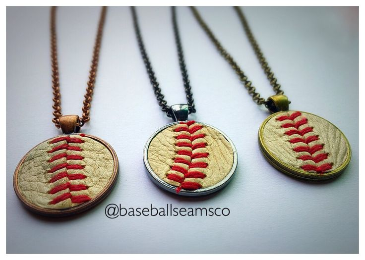 Baseball Seam Pendant Necklaces - Made with ACTUAL Used Baseballs!