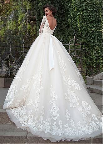 Buy discount Attractive Tulle Bateau Neckline Ball Gown Wedding Dresses With Lace Appliques at Dressilyme.com – Dora Gedeon