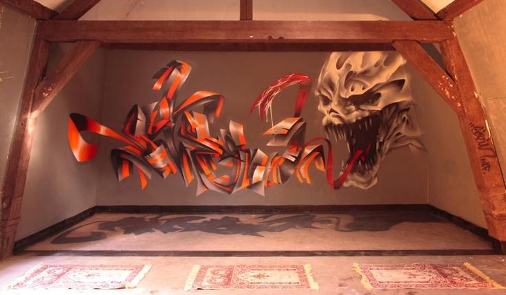 trompe l'oeil mural by stein