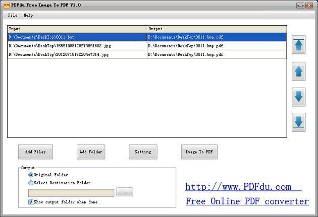 PDFdu Free Image to PDF Converter, convierte imágenes a un documento PDF
