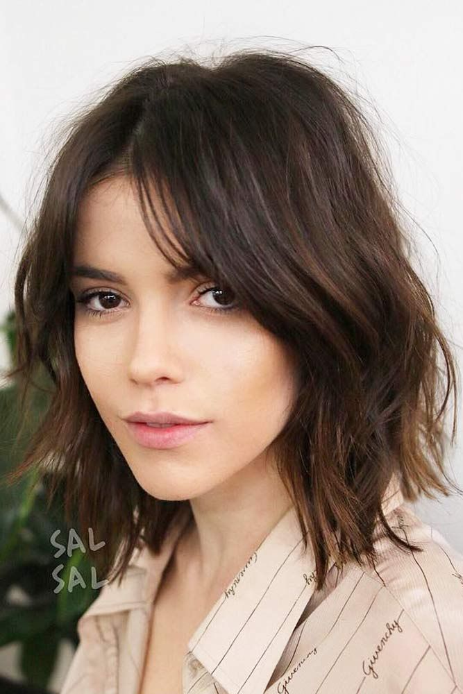 A medium length layered hair style is a great choice as it is flattering for an