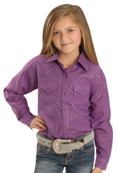Wrangler Purple & Silver Western Shirt at #Sheplers