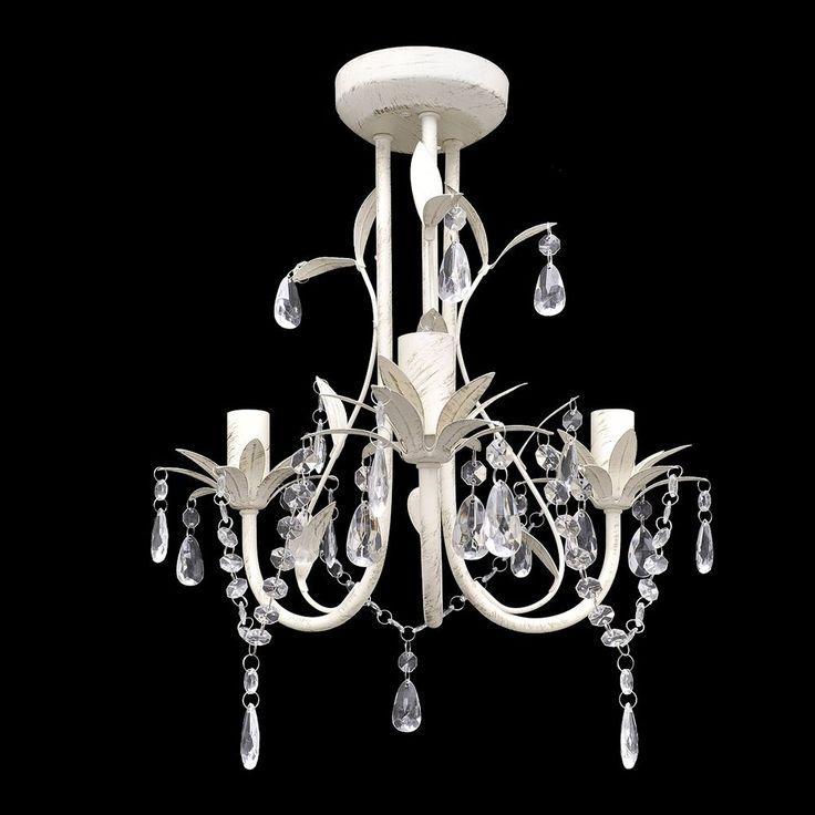 Lampada da soffitto pendente cristallo Luce moderna Lampadario elegante Bianco