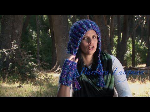 Tejiendo en la Patagonia. Mitones y gorro andino con rectángulos - YouTube