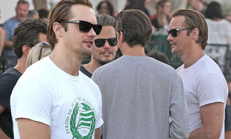 Alexander Skarsgard, 37, and his brother show off their striking looks #DailyMail