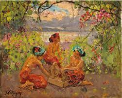 Adrien Jean Le Mayeur de Merpres, Balinese women in the garden