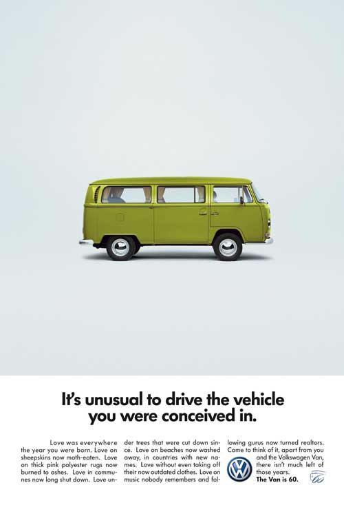 Olybop   Actualités Webdesign, Culture, Graphisme   » 50 vieilles publicités Volkswagen (Combi, Coccinelle…)