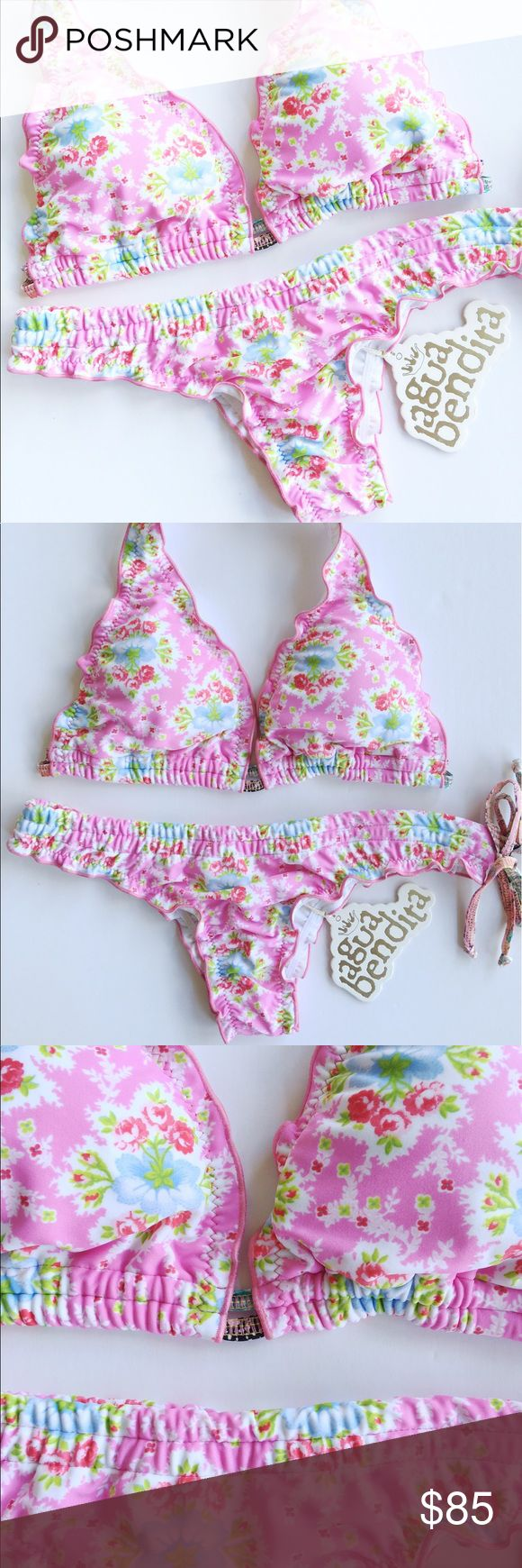 NWT Agua Bendita bikini set medium size New with tags. Bikini set. Cheeky bottom. Excellent quality fabric. Removable pads. Made in colombia. Agua Bendita brand Agua Bendita Swim Bikinis