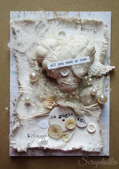 Scrapholka: Dressed in White A Card for Papero amo