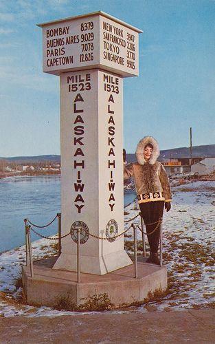 Alaska Hiway Marker - Fairbanks, Alaska