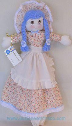 muñeca de trapo guarda bolsas