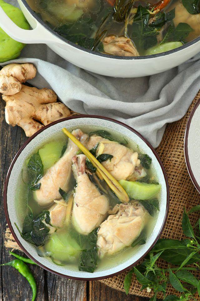Chicken Tinola (Tinolang Manok)   Recipe   Chayote recipes. Food recipes. Easy filipino recipes