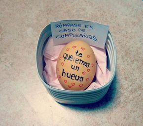 Huevos sorpresa con mensaje. ¡Que regalo tan original!