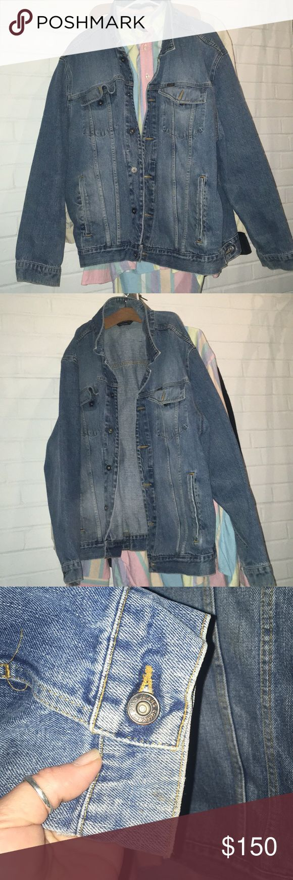 Polo Jeans Company RL Vintage Denim Jacket XXL Awesome Vintage RL Polo Jeans Company Jean Jacket. XXL Big & Tall. A really hot guy needs to be in this Jacket. Excellent Clean Condition and very little sign of wear. Ralph Lauren Jackets & Coats Performance Jackets