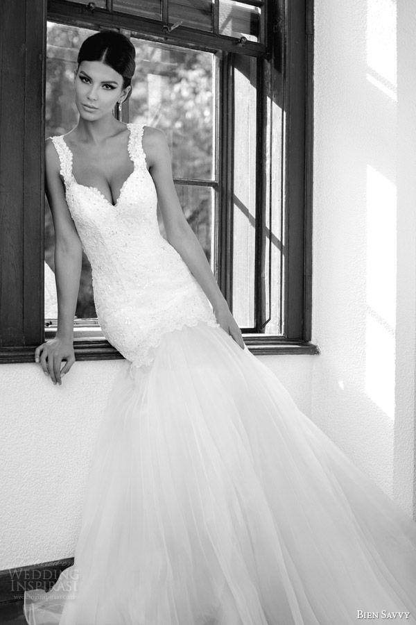 bien savvy spring 2014 one love gabrielle mermaid wedding dress straps