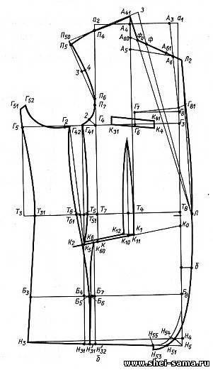 §2. Конструирование пиджаков прилегающего силуэта - Глава IV - Конструирование мужской верхней одежды - Всё о шитье