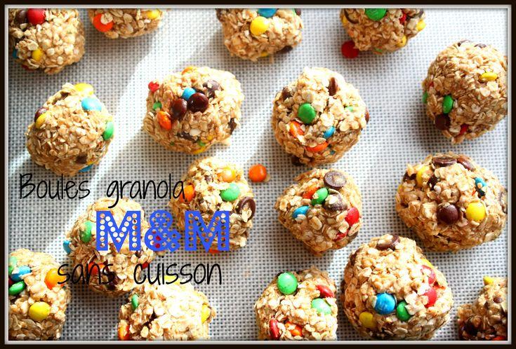 Des bouchées de granola aux M&M sans cuisson, c'est si bon pour la collation!