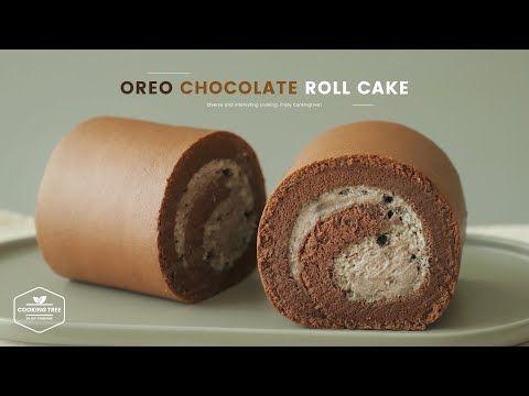 오레오 초코 롤케이크 만들기 Oreo Chocolate Roll Cake Recipe Cooking Tree Youtube 2020 롤 케이크 오레오 케이크 레시피