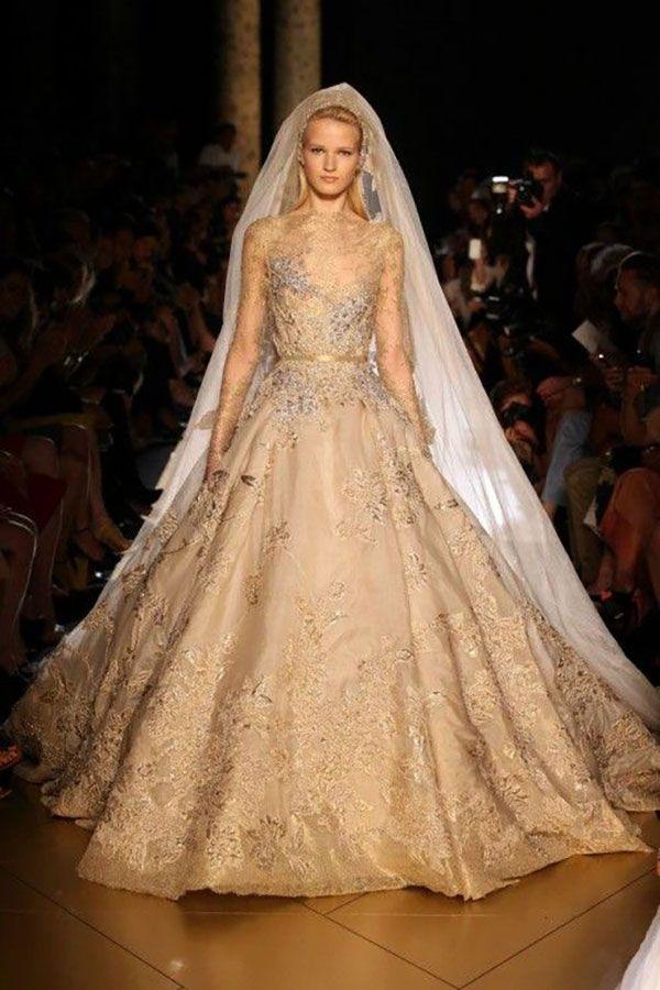 Resultado de imagen para vestidos de novia beige