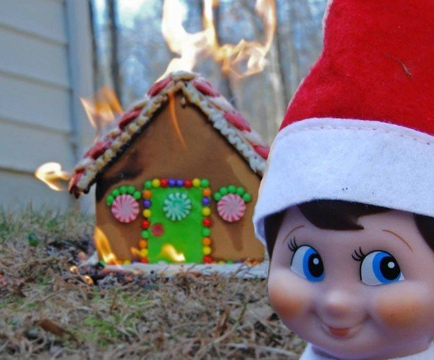 Because no one is safe as long as this guy's on a shelf.   21 Photos The Elf On The Shelf Doesn't Want You To See