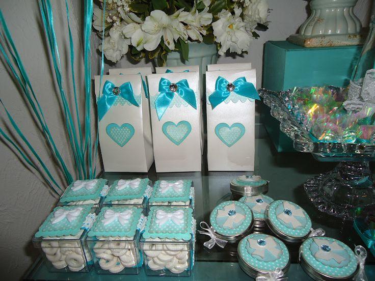 lembrancinhas de casamento azul tiffany e rosa - Pesquisa Google