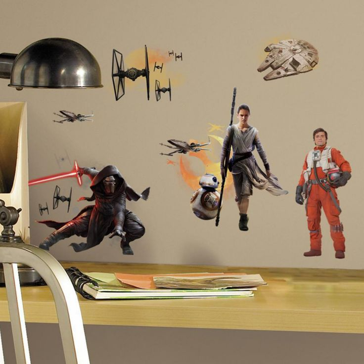 RoomMates Star Wars The Force Awakens Episode VII Ensemble Cast Wall Decals - RMK3010SCS