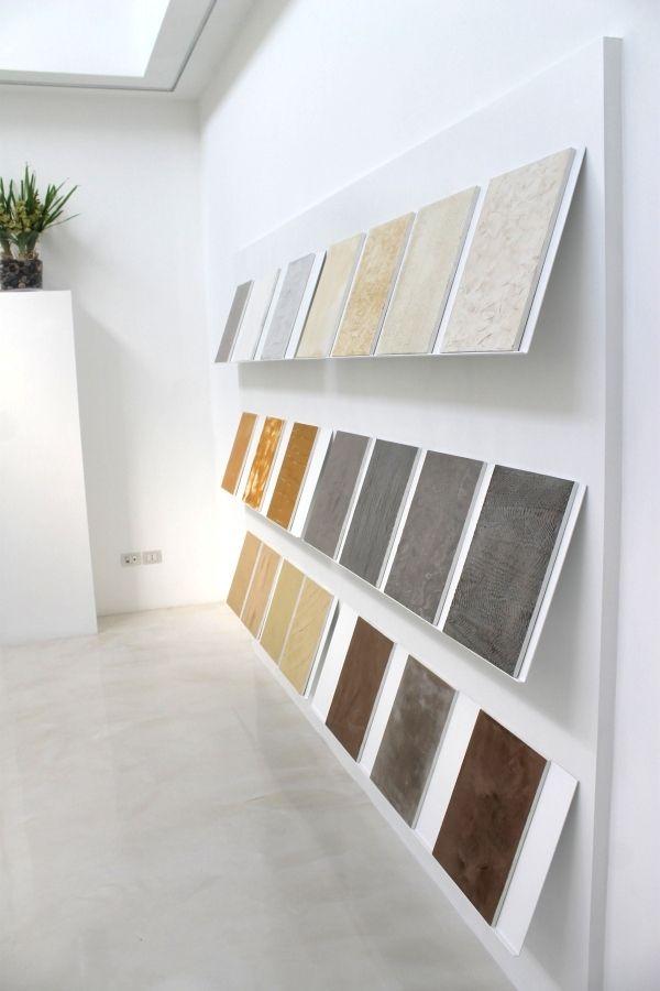 Alcuni esempi di texture e pattern realizzabili grazie all'impiego di particolari resine decorative per superfici e ambienti
