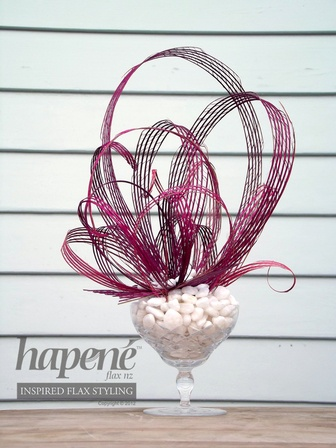 Pink Vintage Hapene Centrepiece - Hapene Online Store, flax flowers and arrangements ON SALE for $39