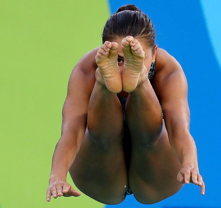 United States' Kassidy Cook dives during a training session at the Maria Lenk…