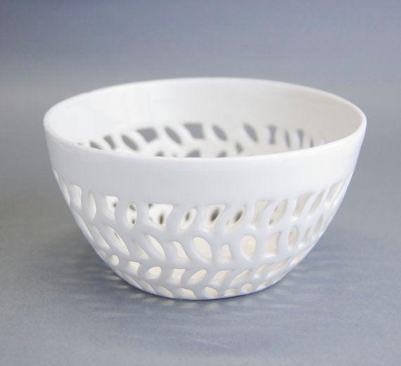 Carved bowl porcelain bowl kitchen bowl handmade by imkadesign