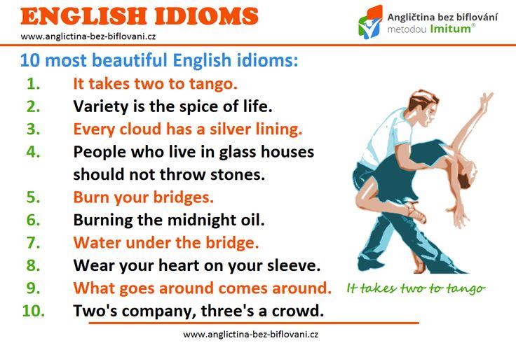 Podívejte se na tyto populární anglické idiomy. 💬 Znáte jejich význam? 💃🕺 #anglictina #idiomy
