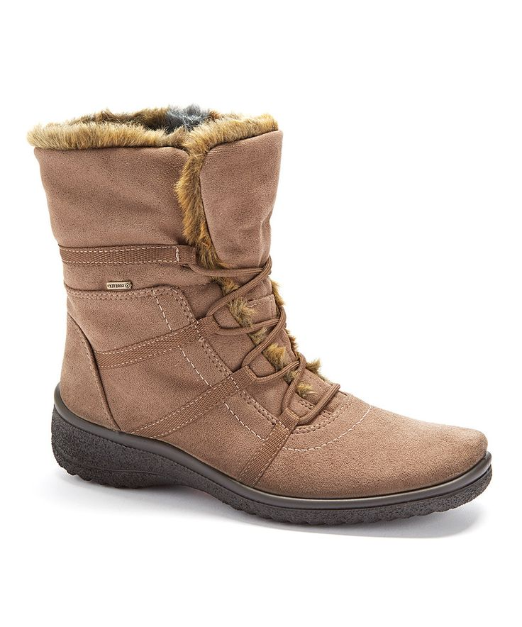 Look at this #zulilyfind! Taupe Magaly Waterproof Boot by ara #zulilyfinds