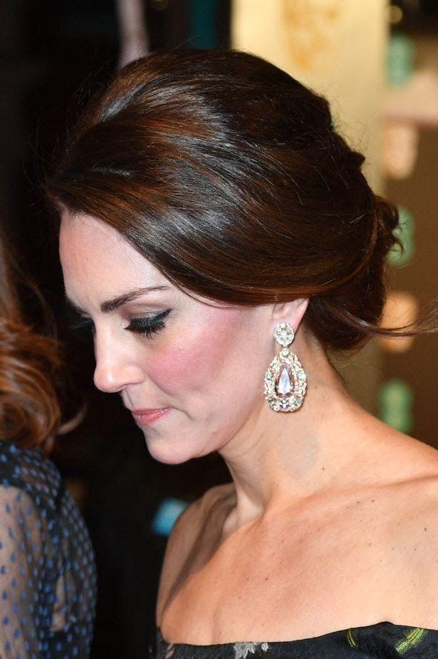 February 12, 2017.  Kate Middleton Unphotoshopped