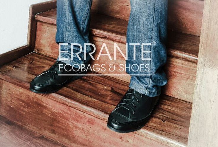 Shoes Errante made from recycled tyres