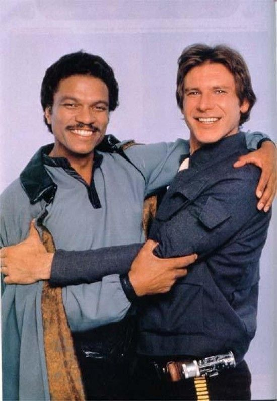 """*LANDO CALRISSIAN (played by: Billy Dee Williams) & HAN SOLO (played by: Harrison Ford) ~ STAR WARS: """"The Empire Strikes Back"""", 1980"""