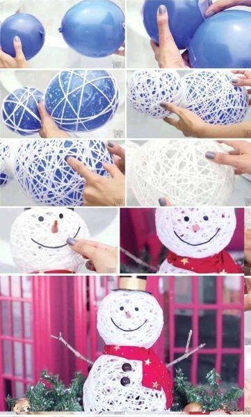 50 Beste DIY Schneemann Weihnachtsdekoration Ideen Ich Liebe Rosa