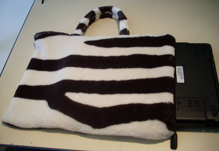 Zebra bag for laptop or tablet