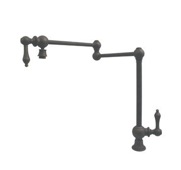 Whitehaus WHKPFDLV3-9555 Deck Mount Double Jointed Traditional Pot Filler at bluebath.com
