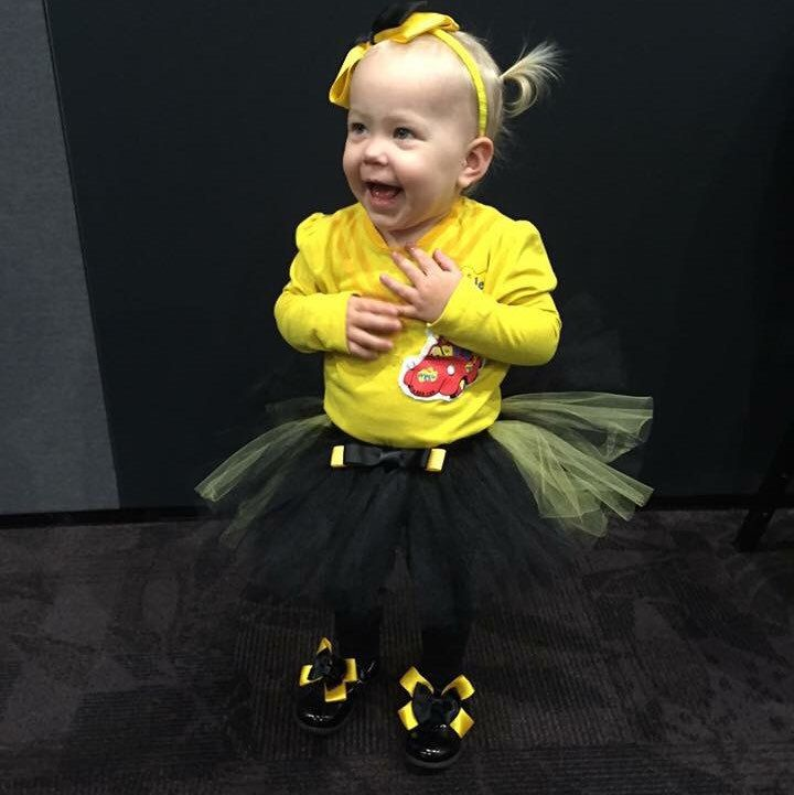 Cuteness overload with one of our tutus making it to a Wiggles concert.