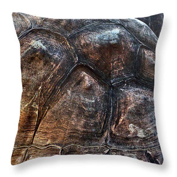 Galapagos Tortoise shell Throw Pillow by Miroslava Jurcik