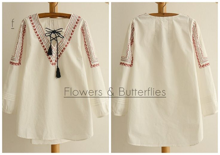 WORLDWIDE FREE SHIPPING Women Plus Size Cotton Embroidered Blouse Shirt Long sleeved pure color natural boho shirt woman lagenlook loose by FlowersButterflies15 on Etsy