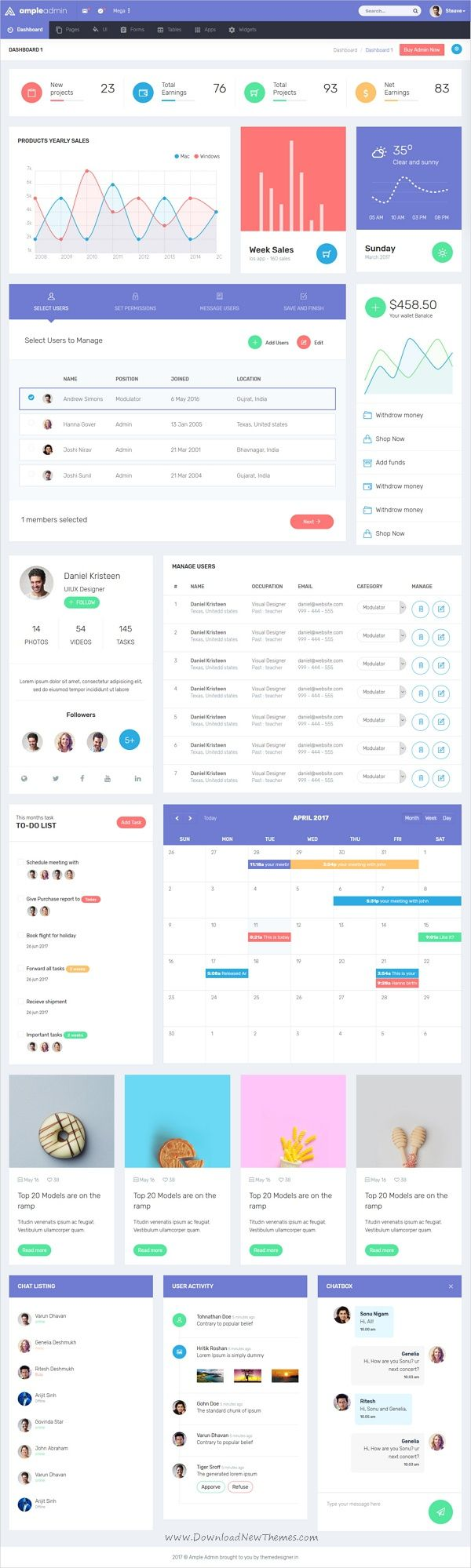 Ample #Admin is a popular open source WebApp #template for admin dashboards and control panels based on CSS, Bootstrap framework with 7 unique homepage layouts download now➩ https://wrapbootstrap.com/theme/ample-admin-dashboard-template-WB0RDB1MP?ref=datasata