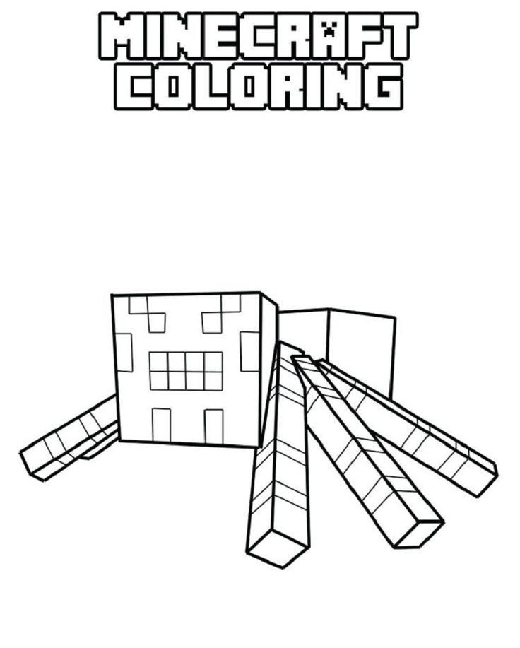 Minecraft Spider Jockey Coloring Pages Spider Coloring Page Minecraft Coloring Pages Minecraft Spider