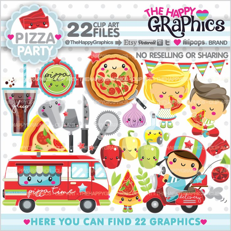 Pizza Clipart, 80%OFF, Pizza Graphic, COMMERCIAL USE, Pizza Party, Food Clipart, Pizza Truck Clipart, Pizza Clip Art, Delivery Clipart, Kids