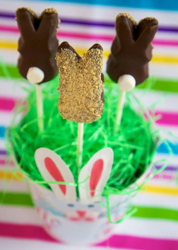 Bunny Peeps S'mores Pops | Plain Chicken