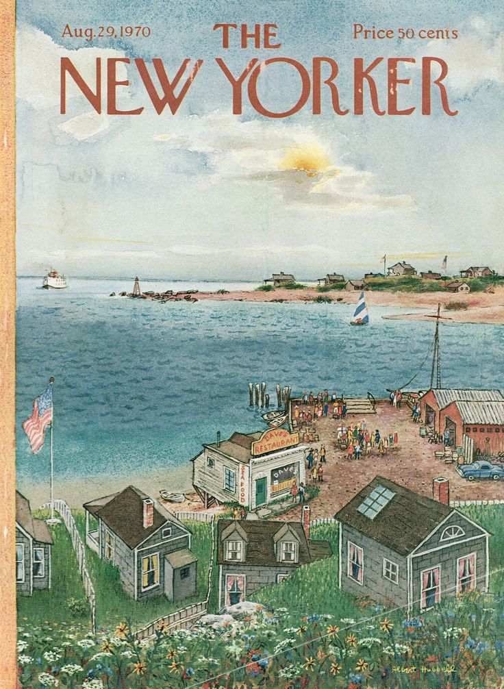 The New Yorker - Saturday, August 29, 1970 - Issue # 2376 - Vol. 46 - N° 28 - Cover by : Albert Hubbell