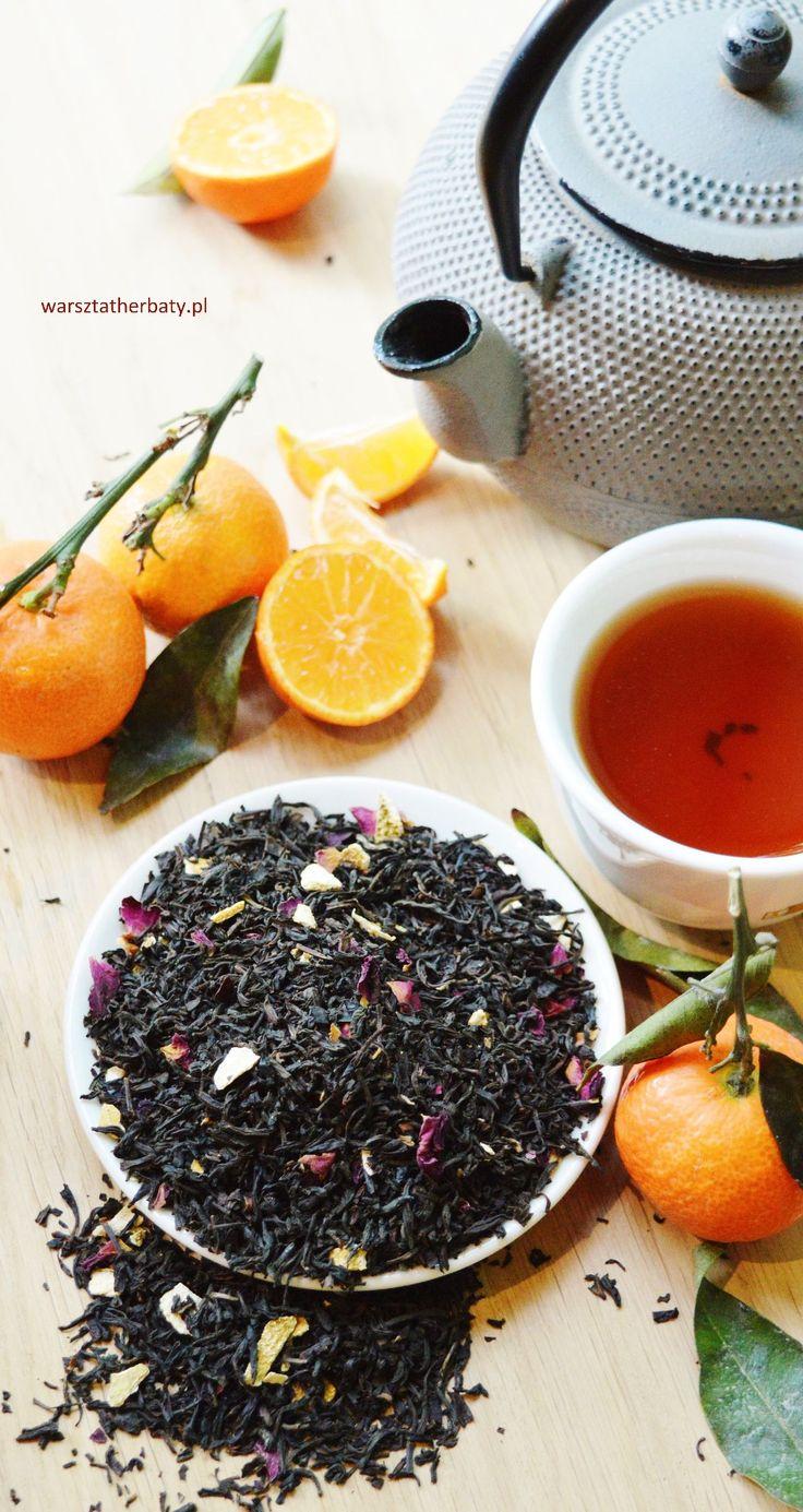 Hiszpańska Mandarynka - herbata czarna z skórką mandarynki, pomarańczy i płatkami róż. BLACK TEA WITH MANDARIN  http://warsztatherbaty.pl/czarne-herbaty-z-dodatkami/36-hiszpaska-mandarynka-100g.html