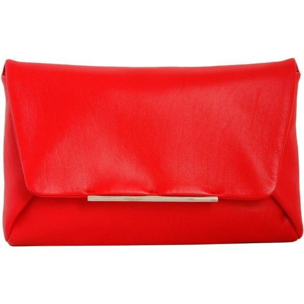Lanvin Clutches (2,475 MYR) ❤ liked on Polyvore featuring bags, handbags, clutches, purses, rosso, red clutches, red purse, leather handbags, red leather handbag and lanvin