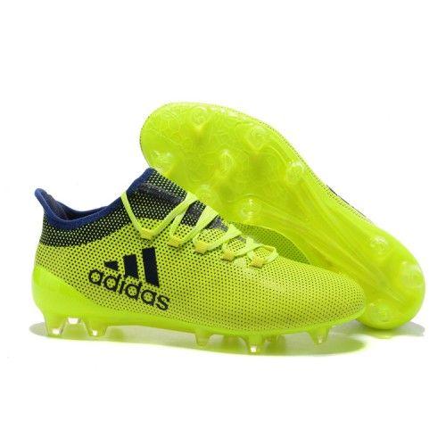 Zapatillas de fútbol sala de Adidas X 17.1 FG tpu Amarillo Negro Azul