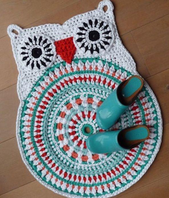Crochet Owl Rug Pattern: 58 Best Crochet Owls Images On Pinterest